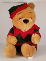 Walt Disney Christmas Elf Winnie The Pooh Plush Stuffed Animal Toy Xmas
