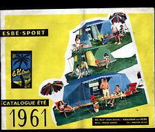 """BOULOGNE-sur-SEINE (92) CATALOGUE de MATERIEL DE CAMPING """"ESBE SPORT"""" en 1961"""
