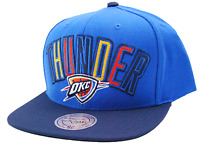 OKC Oklahoma City Thunder Mitchell & Ness VE32Z NBA Basketball Snapback Cap Hat