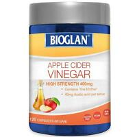 BIOGLAN APPLE CIDER VINEGAR HIGH STRENGTH 400MG 120 CAPSULES VEGAN DIGESTIVE