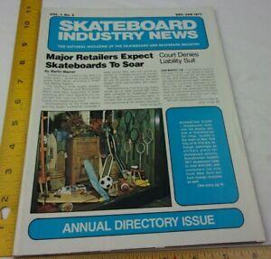 Hobie Banzai Free Former Ampul Skateboard Industry News magazine 1977 V1 #2 RARE