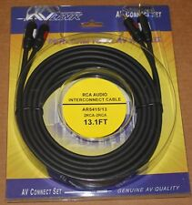 AV Link Pr Audio RCA Cable AR5415 - 13.1 ft, Brand NEW
