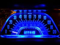 Blue LED Dash Instrument Cluster Light Update Kit for Ford Mustang 1966