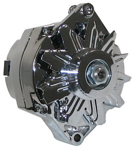 NEW POWERMASTER ALTERNATOR,CHROME,12SI,100AMP,BUICK,CADILLAC,OLDS,REGAL,DEVILLE