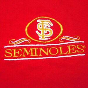 VINTAGE Florida State Seminoles Embroidered FSU T Shirt Size Adult XXL 2XL