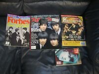 Set of 4 Beatles TV Guide Forbes Rolling Stone Magazines