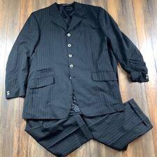 AUTH Versace Classic V2 Men's Designer Black Pinstripe 2-Piece Suit