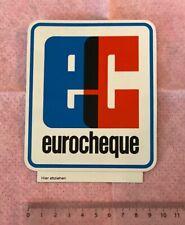 Aufkleber ec eurocheque (mittelgroß)