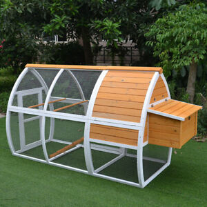 Xl Large Wooden Rabbit Hutch Chicken Coop Ferret Cage With Run Tray Arc