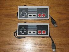 2x USB Nintendo Controller Gamepad JOYPAD NES per PC Computer MAC * Nuovo *