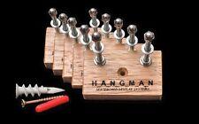 5 x Tasmanian Oak Hangman Skateboard Display Systems, Deck Wall Mount Hanger