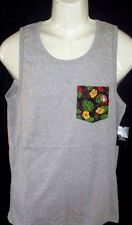 MENS VOLCOM STONE FLORAL POCKET TANK TOP HEATHER GRAY T-SHIRT SIZE L