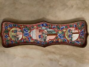 Antique Chinese Cloisonne Enamel Pin/Trinket Tray