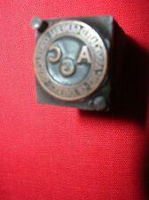 ASSOCIATED CEMENT CONTRACTORS  AMERICA  Wood Block Printing PRINTERS Stamp