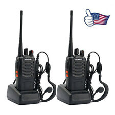 2 * Baofeng BF-888S UHF 400-470 MHz 1500mAh Walkie Talkie + Gift Earphone