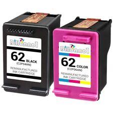 2PKRemanufacturedHP62Black/ColorInkCartridgesforOfficejet574057425745