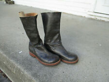 jim barnier Distressed Brown Leather Pull on Boots 8 M