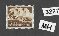 #3227  MH stamp Sc B205 1942 Brown Ribbon Horse race Third Reich Munich Germany