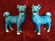 Turquoise Blue Qilin Statues - Late Qing Dynasty - China