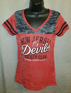 New Jersey Devils Touch by Alyssa Milano Red Burnout T-Shirt - Womens Small