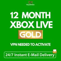12 MONTH XBOX Live Gold Membership Code XBOX 360 / XBOX ONE - BRAZIL VPN Needed