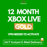 12 MONTH XBOX Live Gold Membership Code XBOX 360 / XBOX ONE - BRAZIL VPN Needed