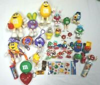 M&M Candy Lot of 30+ Figures Dispensers Toppers Plush Night Light many Vintage