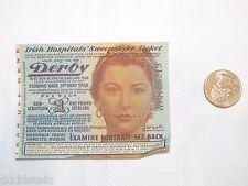 VINTAGE IRISH HOSPITALS' SWEEPSTAKE TICKET - 1958 - EPSOM ENGLAND MAY 3
