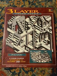 Paradox 3 Layer Jigsaw Puzzle 540 clear plastic puzzles form 3D image 1994