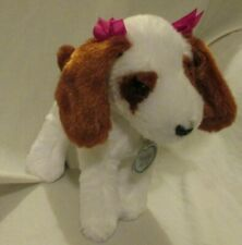 Poochie & Co White Brown Puppy Dog Plush Stuffed Animal Long Ears