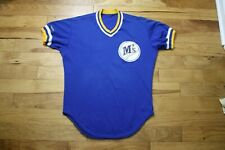 1987-89 Seattle Mariners player/game used jersey batting practice Rawlings sz 42
