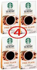 "Starbucks VIA PIKE PLACE 32 pouches (4 x 8 ct) instant coffee ""fresh"""