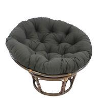 International Caravan 42-Inch Rattan Papasan Chair with Solid Twill Cushion -...