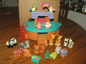 FISHER PRICE LITTLE PEOPLE NOAHS ARK COMPLETE WITH EXTRAS