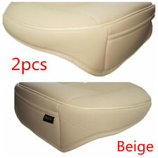 PU Leather 3D Full Surround Car Seat Protector Seat Cover Accessories 2Pc Beige
