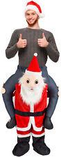 Carry Weihnachtsmann Kostüm Vater Weihnachten Ride mich Huckepack Erwachsene Xma...