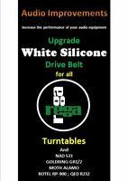 Rega Planar & clones Silicone Drive Belt 2 (Pair) Special Silicone Drive Belt