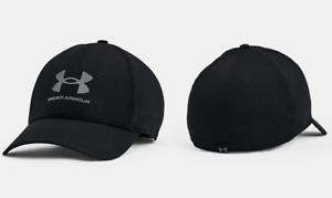 New Under Armour Little Boys' 4-7 UA ArmourVent Stretch Hat Cap Black/Pitch Gray