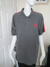 LOTTO - GREY & RED LOGO, POLO shirt ,SIZE LARGE, 95% COTTON 40% POLYESTER