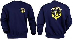 Sweat-Shirt TROUPES DE MARINE Française TDM T.D.M - Taille XXL / 120