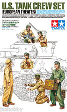 Tamiya 35347 1/35 Model Figure Kit WWII US Army Tank Crew Set European Theater