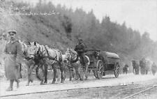 CPA CARTE PHOTO BELGIQUE SPA 1918 LES ALLEMANDS EN RETRAITE (superbe cliché n°1