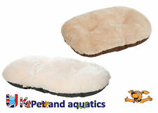 Gor Pets Nordic Suede & Faux Fur Oval Cushion Ideal For Plastic Dog Beds