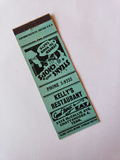 Vintage Matchbook Cover Kelly's Restaurant McCallie Ave Chattanooga TN