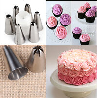 6Pcs Icing Piping Nozzle Cake Decorating Sugarcraft Pastry Tips Tool Set SP