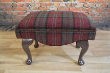 Shabby Chic Country Queen Ann Footstool Red Lana Tartan