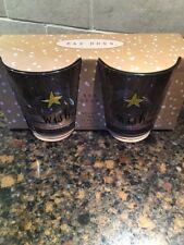 RAE DUNN GLASSES WISH SET OF 2 SET GIFT BOX Glass Star 11oz