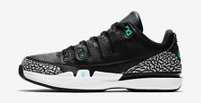 Nike Zoom Vapor RF x AJ3 Federer Jordan Atmos Black White Jade Size 8 709998 031