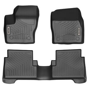OEDRO Fit for 2015-2018 Ford Escape Floor Mats Full Set Liner All-Weather Guard