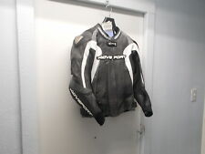 NOS AGV Sports Photon Perforated Leather Jacket Blk/Wht/GunMetal 40 AGS-JHP-BKWG